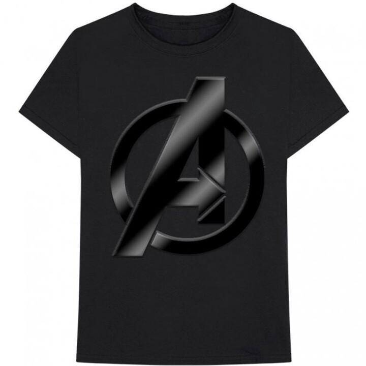 Tričko Marvel - Avengers, logo, černé (XXL)