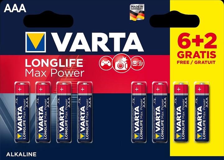 VARTA baterie Longlife Max Power AAA, 6+2ks