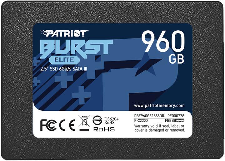 """Patriot Burst Elite, 2,5"""" - 960GB"""