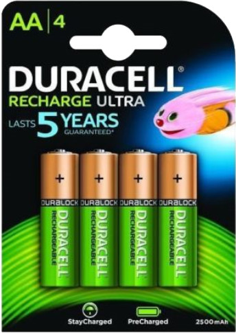 Duracell Stay Charge AA- 4 NiMH Accu 2400 mAh Duralock