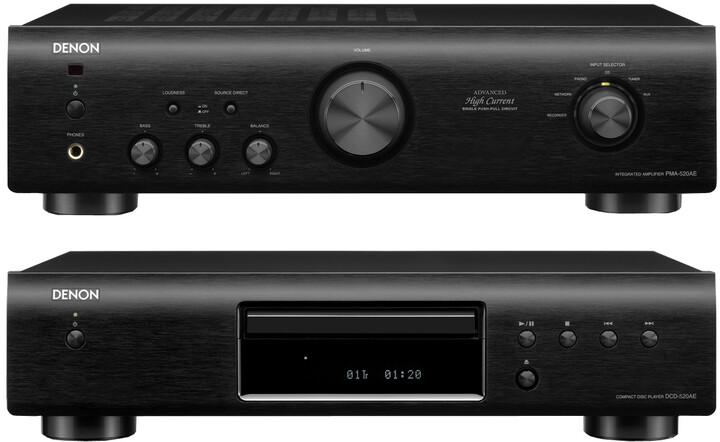 Denon DCD-520 + PMA-520, černá