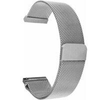 Tactical 640 magnetický kovový řemínek Loop pro Samsung/Amazfit/Garmin, 44mm, stříbrná - 2452355