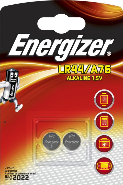 Energizer baterie LR44/A76 speciální alkalické, 2ks