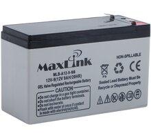 MaxLink baterie AGM 12V/9Ah, olověný akumulátor F2 - MLB-A12-9