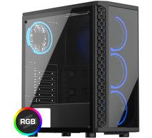 SilentiumPC Signum SG1X TG RGB, okno, černá