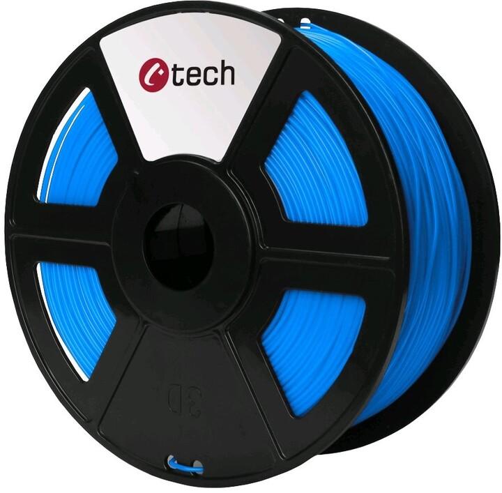 C-TECH tisková struna (filament), PETG, 1,75mm, 1kg, modrá