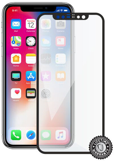 Screenshield Tempered Glass pro Apple iPhone X, černá