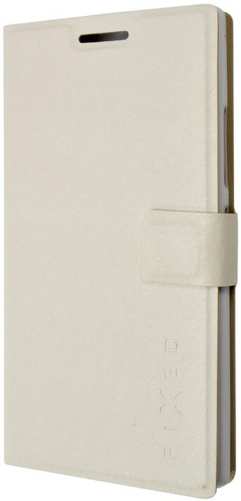 FIXED flipové pouzdro pro Lenovo P70, bílá