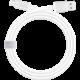 Moshi USB Cable to USB C, 1m, bílá