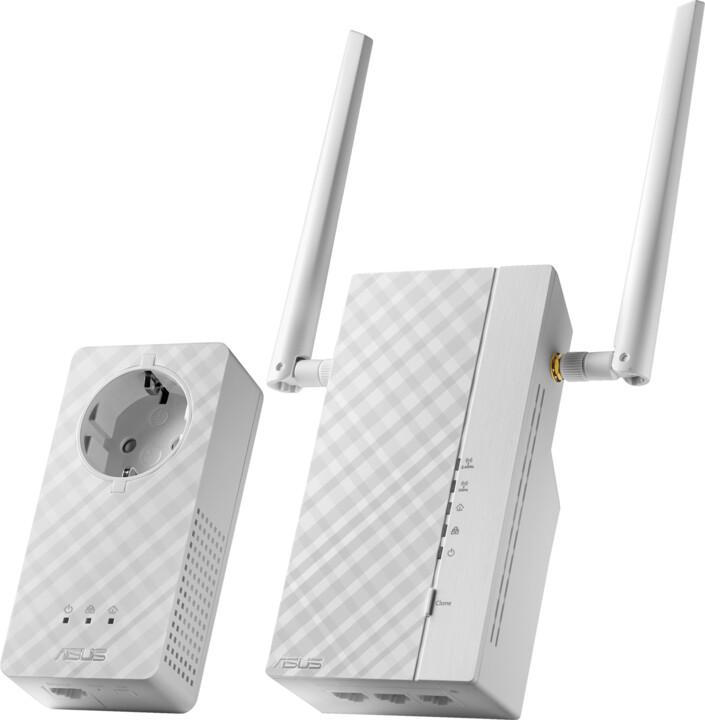ASUS PL-AC56, 1200Mb/s Wi-Fi souprava HomePlug® AV500 Powerline Extender Kit