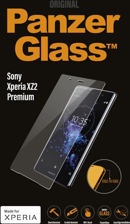 PanzerGlass Premium pro Sony Xperia XZ2 Premium, čiré