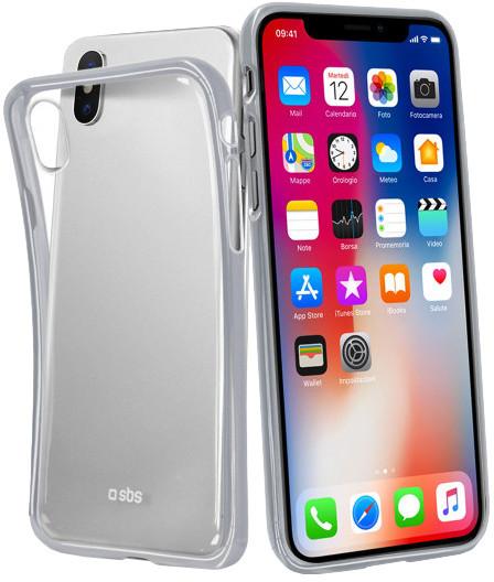 SBS Extra Slim Gold collection pouzdro pro iPhone X, stříbrná