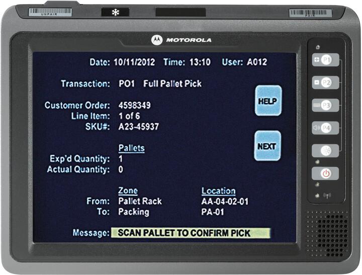 Zebra terminál VC70N0, Wi-Fi, 2GB, 512MB RAM, RS232, Win 7 Emb Pro, IP66, černá