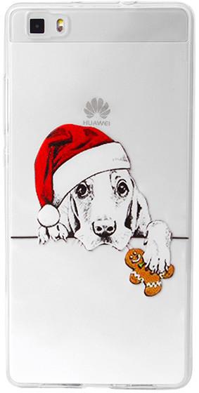 EPICO pružný plastový kryt pro Huawei P8 Lite XMAS DOG