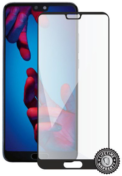 Screenshield pro HUAWEI P20 Tempered Glass protection (full COVER black)