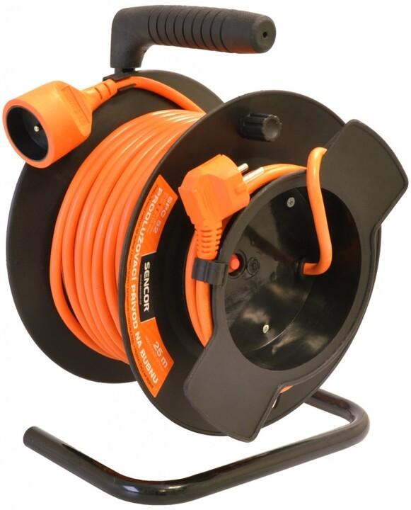 Sencor prodlužovací přívod, 1 zásuvka, buben, 50m, oranžová