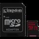 Kingston Micro SDXC Canvas React 256GB 100MB/s UHS-I U3 + SD adaptér