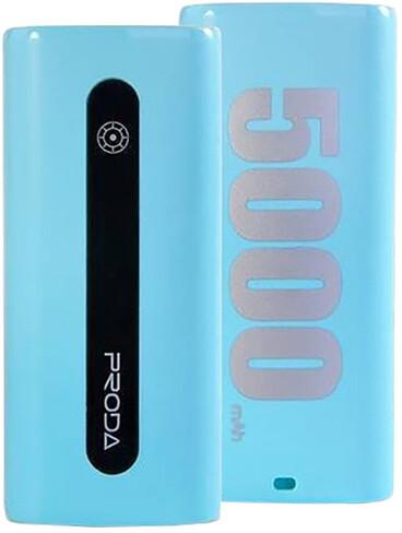 Remax Proda E5, 5000 mAh, modrotyrkysová