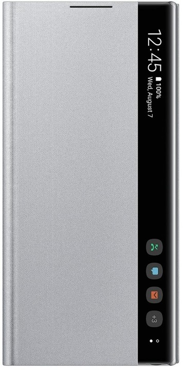 Samsung flipové pouzdro Clear View pro Galaxy Note10, stříbrná