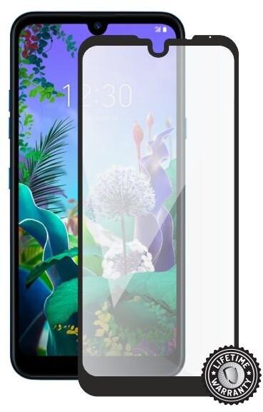 Screenshield ochrana displeje Tempered Glass pro LG Q60, full cover, černá
