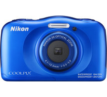 Nikon Coolpix W100, modrá + Backpack kit