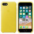 Apple kožený kryt na iPhone 8 / 7, jasně žlutá