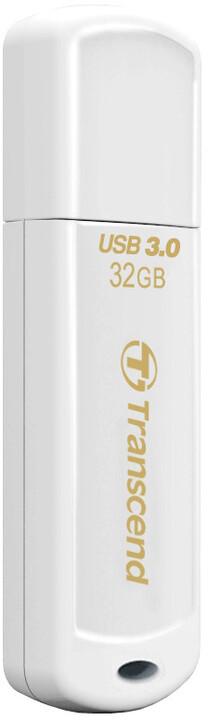 Transcend JetFlash730 32GB, bílá
