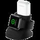 USAMS nabíjecí stojánek ZJ051 pro Apple Watch/Airpods, černá