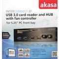 Akasa čtečka AK-HC-08BK, USB3.0, interní