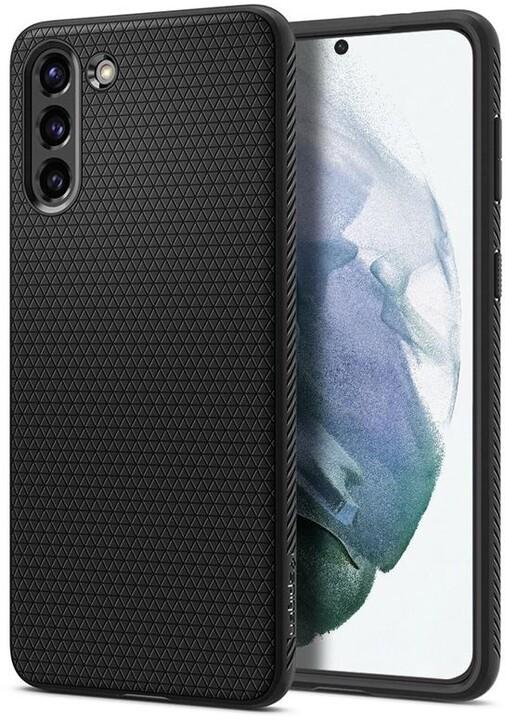 Spigen ochranný kryt Liquid Air pro Samsung Galaxy S21, černá