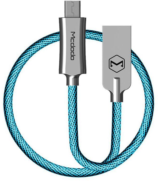Mcdodo Knight datový kabel microUSB, 2m, modrá