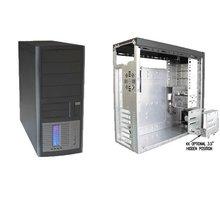 EuroCase ML5440 černo/stříbrná - Middletower 350W