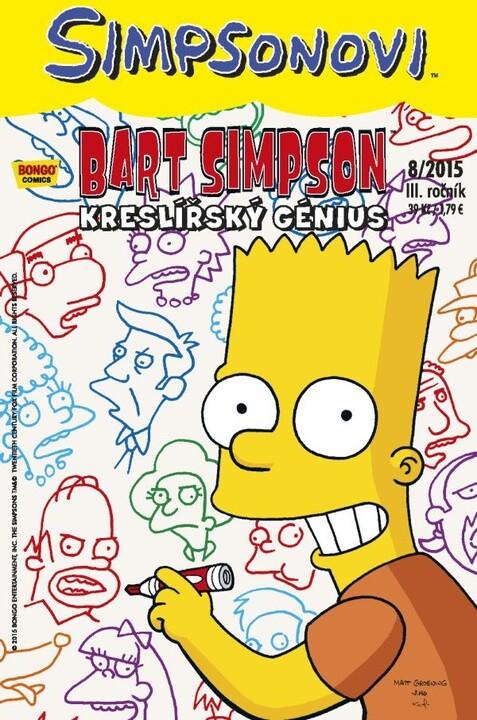 Komiks Bart Simpson: Kreslířský génius, 8/2015