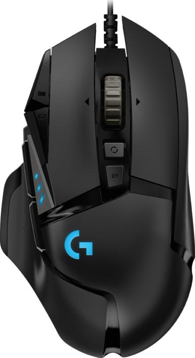 Logitech G502 Hero, černá