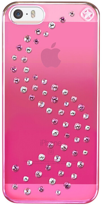 Bling My Thing Milky Way Pink Metallic Love Mix kryt pro Apple iPhone 5/5S/SE