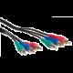 AQ KVY030, 3 RCA (cinch) / 3 RCA (cinch) - video kabel, 3m
