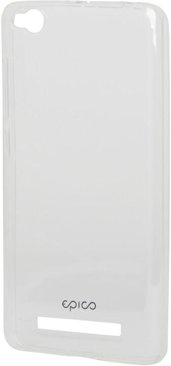 EPICO pružný plastový kryt pro Xiaomi Redmi 4A RONNY GLOSS - bílý transparentní