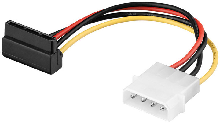 PremiumCord napájecí kabel SATA zahnutý 90°