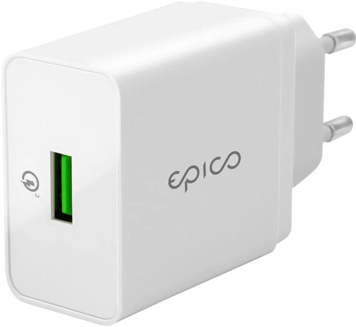 EPICO wall charger 18W QC 3.0, bílá