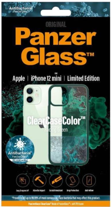 PanzerGlass ochranný kryt ClearCase pro iPhone 12 mini, antibakteriální, zelená