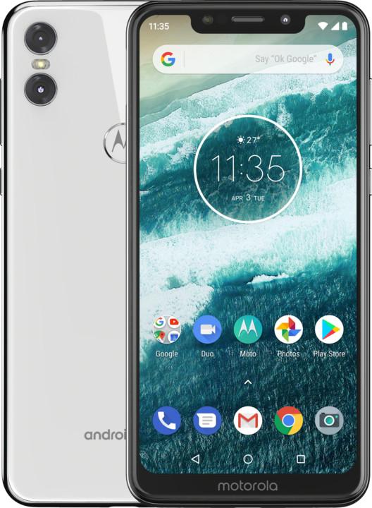 Motorola One, 4GB/64GB, Dual SIM, bílá
