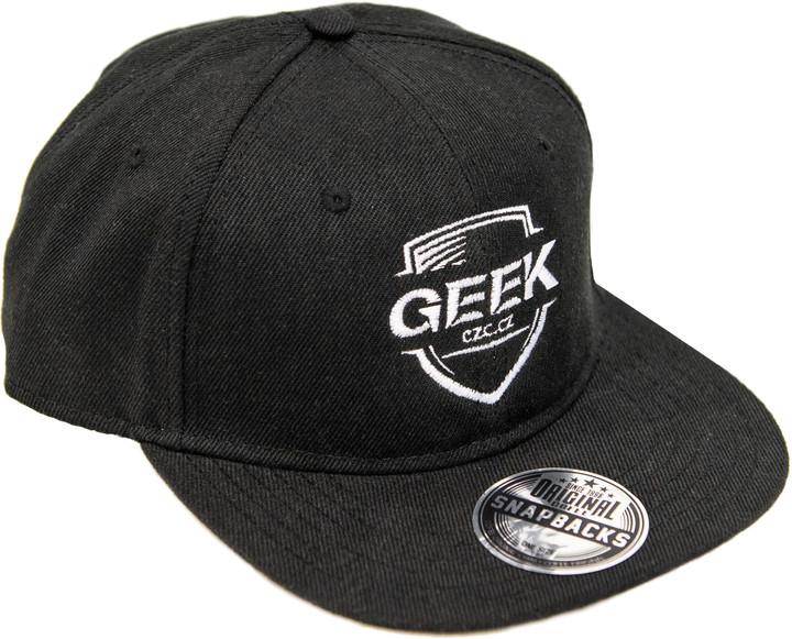 Kšiltovka s logem GEEK, černá