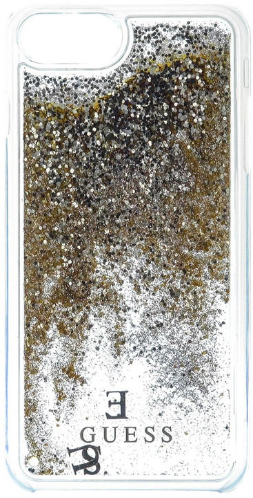 Guess Liquid Glitter Hard Gold pouzdro pro iPhone 7