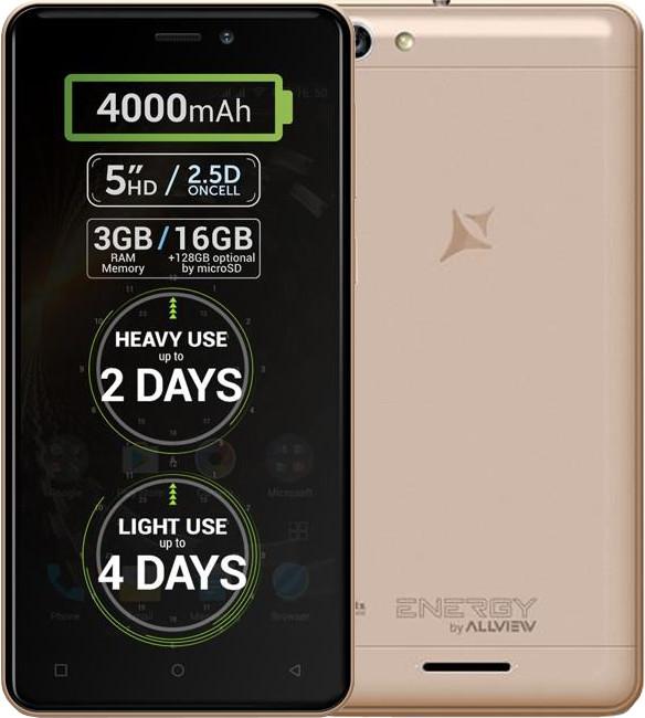 Allview P9 Energy MINI, zlatá