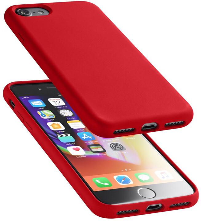 CellularLine ochranný silikonový kryt SENSATION pro iPhone 7/8/SE 2020, červený