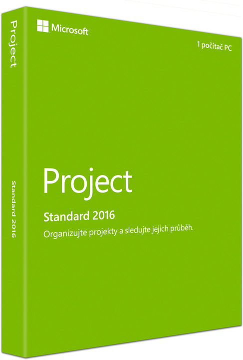 Microsoft Project Standard 2016, (nekompatibilní s Office 2013)