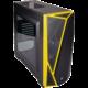Corsair Carbide Series SPEC-04, okno, černo-žlutá  + Voucher až na 3 měsíce HBO GO jako dárek (max 1 ks na objednávku)
