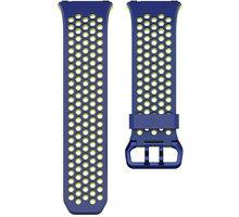 Fitbit Ionic sportovní řemínek modrožlutý - velikost L FB164SBBUL