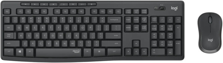 Logitech MK295 Silent, černá