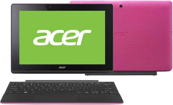 Acer Aspire Switch 10E (SW3-016-15NE), růžovo/černá